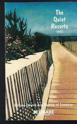 The Quiet Resorts 1997 Delaware Booklet Bethany Fenwick Area