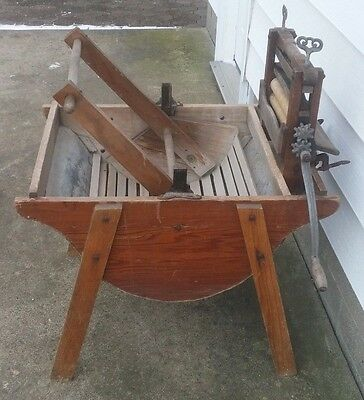 Antique 1906 Rocking Wooden Washing Machine Thomas Conron Hardware Co