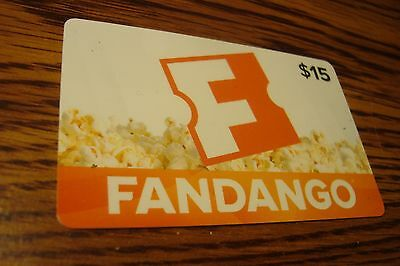 FANDANGO $15 GIFT CARD NO VALUE-Never Used or Activated Collectable 2014 New