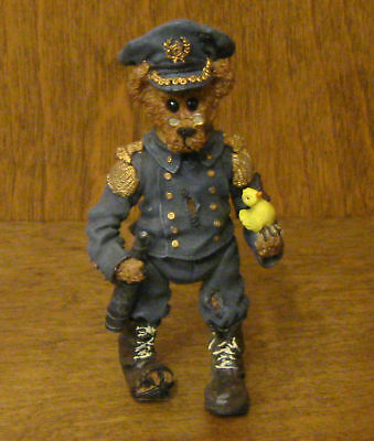 Boyds Shoebox Bears #3208 Filbert Q Foghorn Jointed NIB From Retail Store POLICE