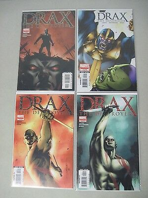 Complete Set Of Drax The Destroyer #1-4 Marvel Limited Series Gotg Villain