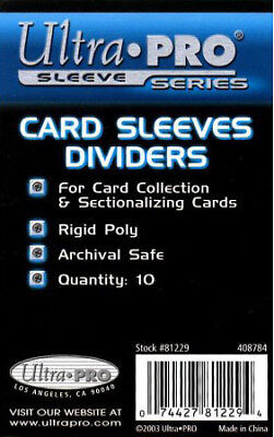 100 Ultra Pro Trading Card Sleeves Divider Dividers - Fits Card Storage Boxes