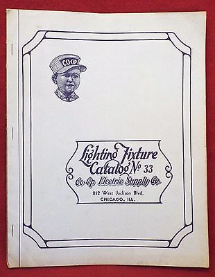Old 1932 CO-OP ELECTRIC SUPPLY CO. Lighting Fixture CATALOG #33 Riddle ART DECO