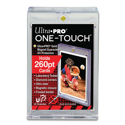 15 ULTRA PRO One Touch Magnetic Thick Card Holders 260pt UV Gold Magnet