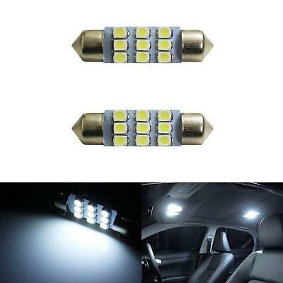 """Xenon White 9-SMD 1.50"""" 36mm 6411 6418 LED Bulbs For Car Interior Map Dome Light"""