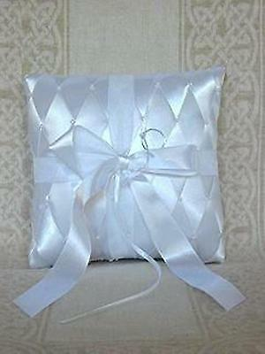 White Square-shape Bridal Wedding Ring Pillow Cushion Style #RP001
