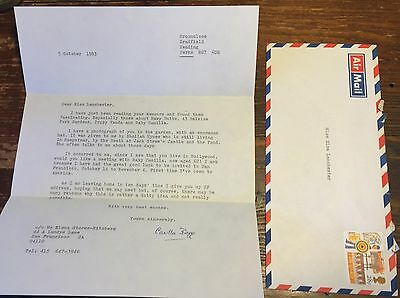 Letter to ELSA LANCHESTER From Daughter of Famed Modernist Writer MARY BUTTS