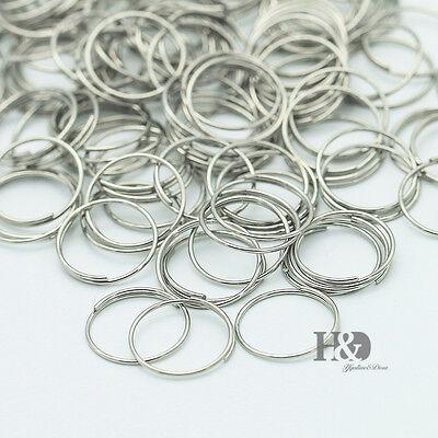 500 Crystal Chandelier Silver Connector Cllips Pins Rings Prisms Parts 12mm