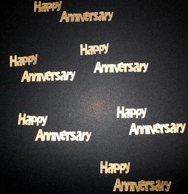 Die-cuts *HAPPY ANNIVERSARY* Textured GOLD Cardstock Scrapbooking/Cardmaking