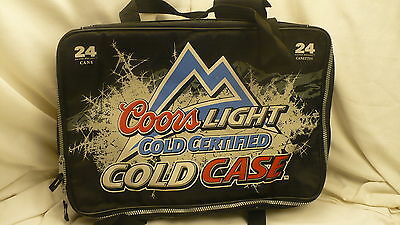 Coors Light Cold Certified Case beer suit case style insulated 24 can cooler