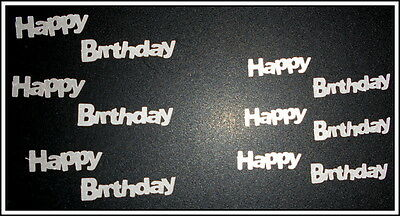 *HAPPY BIRTHDAY- SILVER* Textured Cardstock Die-cuts - Scrapbooking/Cardmaking