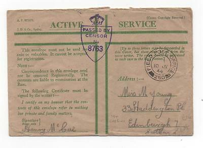 1944 British Army, Monte Cassino to GB - FPO 250, censor