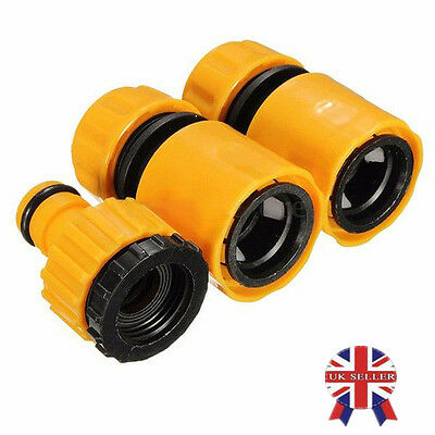 3PCS Garden Car Water Hose Pipe Tap Connector Connection Fitting Adapter