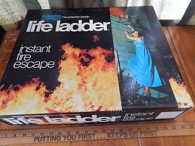 American Lafrance Life Ladder Instant Fire Escape 15 ft. 2 story, In Orig. Box!