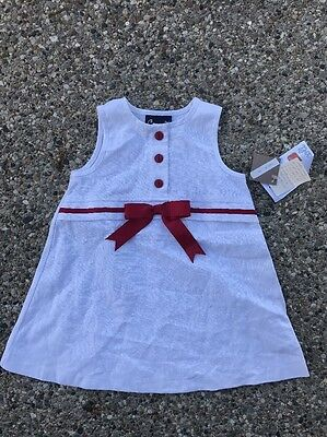 NEW NWT boutique $ COCCOLI baby girl 12M dress white red outfit