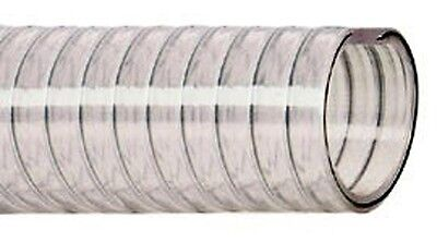 PVC Suction hose clear Steel spiral SOLD BY THE METRE 12mm - 60mm