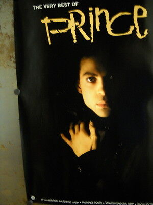 PRINCE Great Large PROMO POSTER in super mint condition from VERY BEST OF