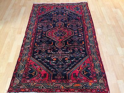 """PERSIAN CARPET RUG HAND MADE Antique WOOL traditional oriental 5ft 7"""" x 3ft 6"""""""