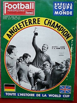 1966 football magazine n°79 SPECIAL COUPE DU MONDE 1966 WORLD CUP ANGLETERRE