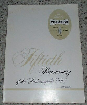 1966 Champion Spark Plugs 50th Anniversary Indianapolis 500 Booklet