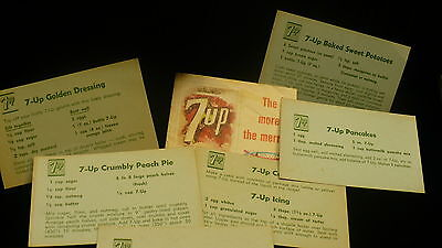 7up Seven up recipe pop soda cards booklet 1967 Christmas