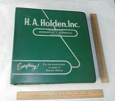 H.A. Holden, Inc. - For the repair of Electric Motors - vintage CATALOGs
