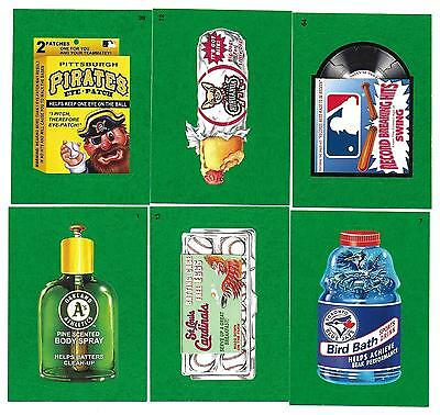 2016 Topps MLB BASEBALL Wacky Packages GREEN PARALLEL Trading Card Set  90 CARDS