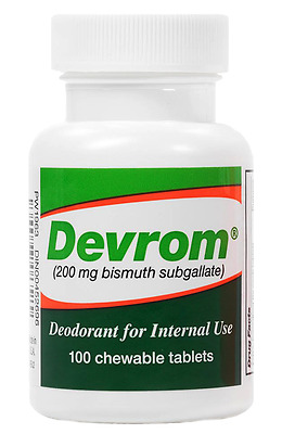 Devrom Chewable Tablets Deodorant for Interna use,Remedy for Intestinal gas odor