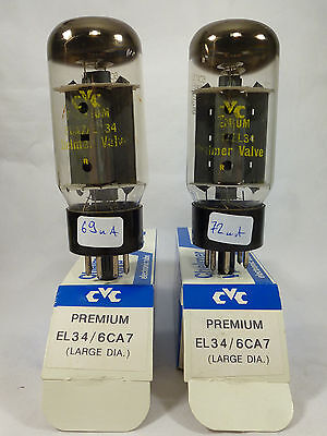 one pair EL34 CVC Premium brand Sovtek new in box and tested with U61C