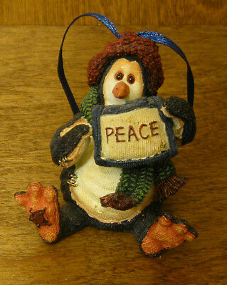 Boyds Tuxedo Gang Ornament #25804 WIDDLE COLDFIN...PEACE, From Retail Store 2.5""