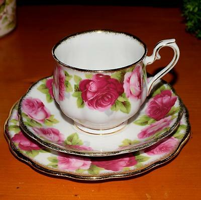 *  Vintage Royal Albert Old English Rose Trio, Cup, Saucer & Plate