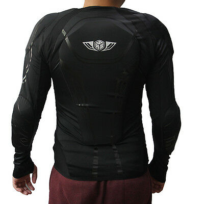 Motorcycle Motocross Bike Full Body Armor Protector Jacket M-XXL Black Clothes