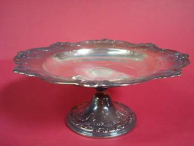 Large Gorham EP Silver Plate Pedestal Dish Serving Tray w/ Weighted Base
