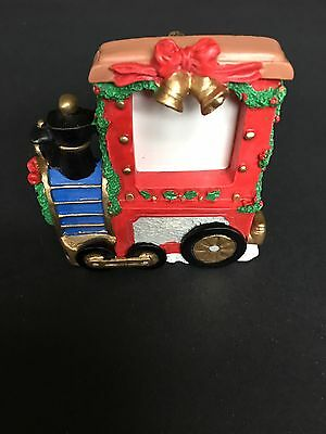 Avon Christmas Choo-Choo Picture Frame Ornament Gift Collection