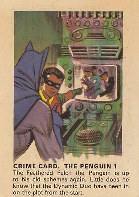 Batman card from Weeties and Rice Krinkles  Crime Card The Penguin 1