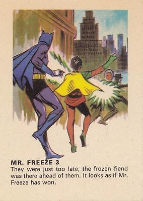 Batman card from Weeties and Rice Krinkles Mr. Freeze 3