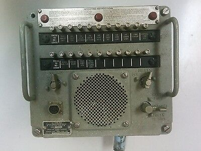US Navy DYNALEC LS-519A/SIC  MC Intercom Station 115 volts used 20 stations