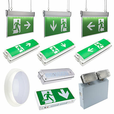 LED Emergency Lighting, Exit Sign & Bulkhead Maintained Non Maintained Light
