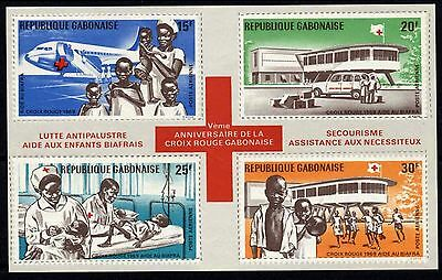 1134 Gabon 1969 Red Cross, Booklet MNH