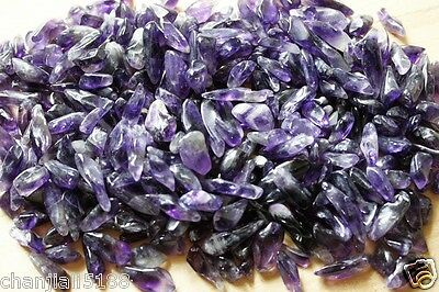 NEW 100% Natural Lot of Tiny Clear Amethyst Quartz Crystal Rock Chips 50g A2