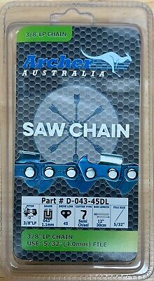 "12"" chainsaw saw chain 3/8 LP .043 gauge 45DL repl. Oregon R45 90PX045G R45"