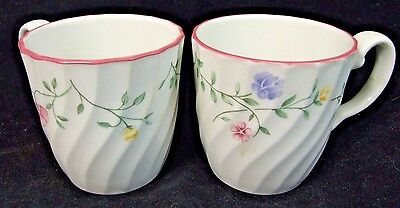 2 Johnson Brothers SUMMER CHINTZ COFFEE MUGS for one low price! MINT!