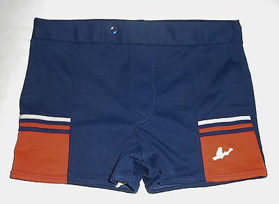 Vtg 60s 70s CATALINA Swim Suit Briefs NAVY BLUE Surf Board Shorts Trunks Mens 32