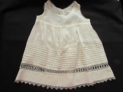 Antique Victorian Girls Dress Tatted Tatting Work Trim