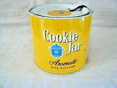 Mid-20th Century COOKIE JAR Tobacco Can.  Edwin Tobacco CO., NYC, 17, NY