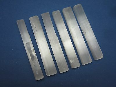 "Lot of 6 Rough 4"" in. SELENITE WANDS Morocco 197g"