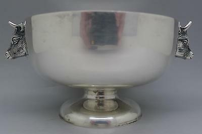 TUTTLE BOSTON RARE Sterling Silver X BuLL Heads Bowl CC Must See No Reserve