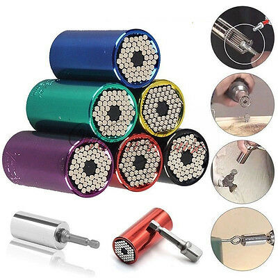 New MAGICAL-GRIP Universal Gator Socket Wrench Sleeve Drill Adapter Tool 7-19mm