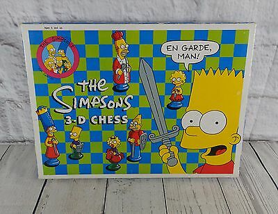 The Simpsons 3-D Chess Set Game Complete Vintage 1991