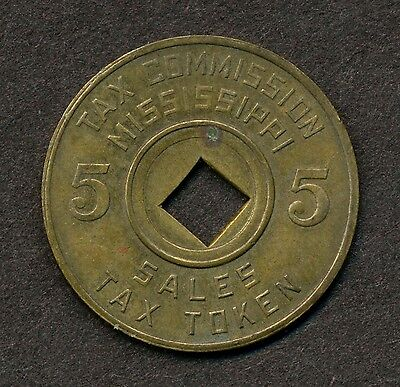 1930s Mississippi Tax Commission Token for 5 Cents